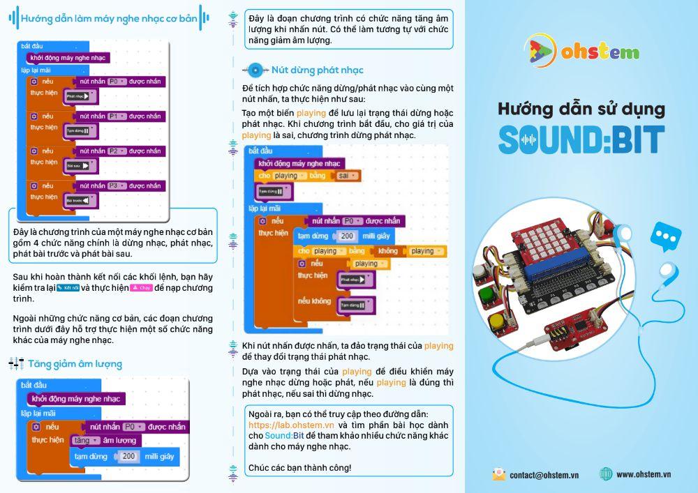 Hướng dẫn sử dụng Sound:Bit