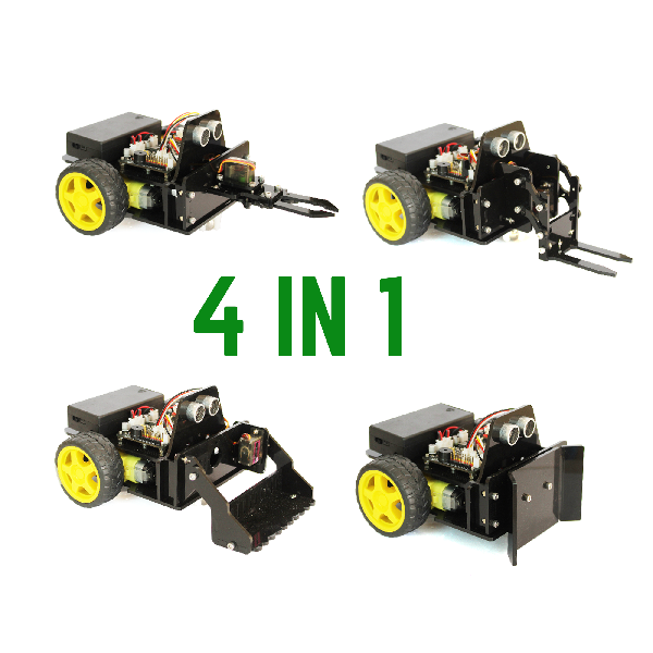 Xe robot biến hình với 4 đầu chức năng