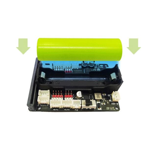 Tháo lắp pin cho đồ chơi hỗ trợ học STEM Robot Shield