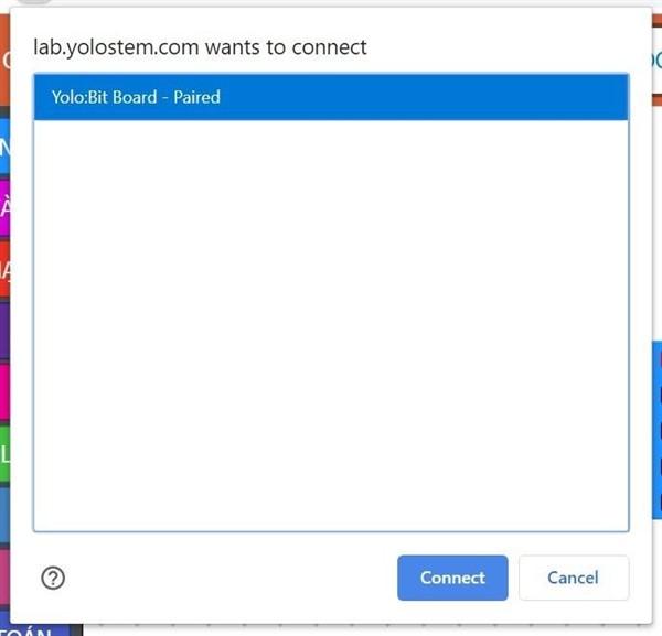 Kết nối với Yolo:Bit để lập trình kéo thả