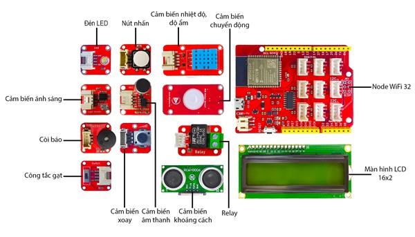 Các bộ phận của Arduino Advance Kit