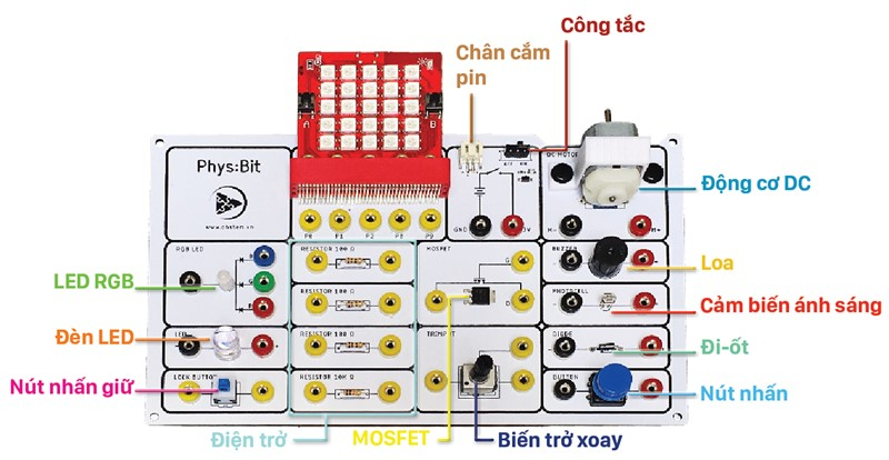 Bộ Kit học điện tử Phys:Bit