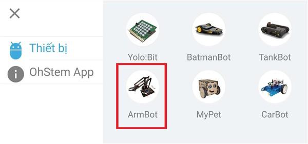 Chọn ArmBot