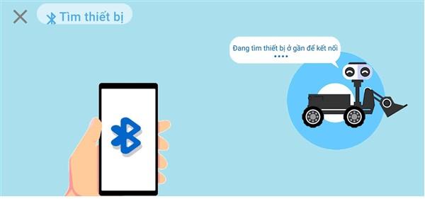 Kết nối Bluetooth trên app