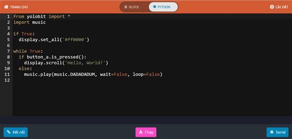lập trình bằng MicroPython