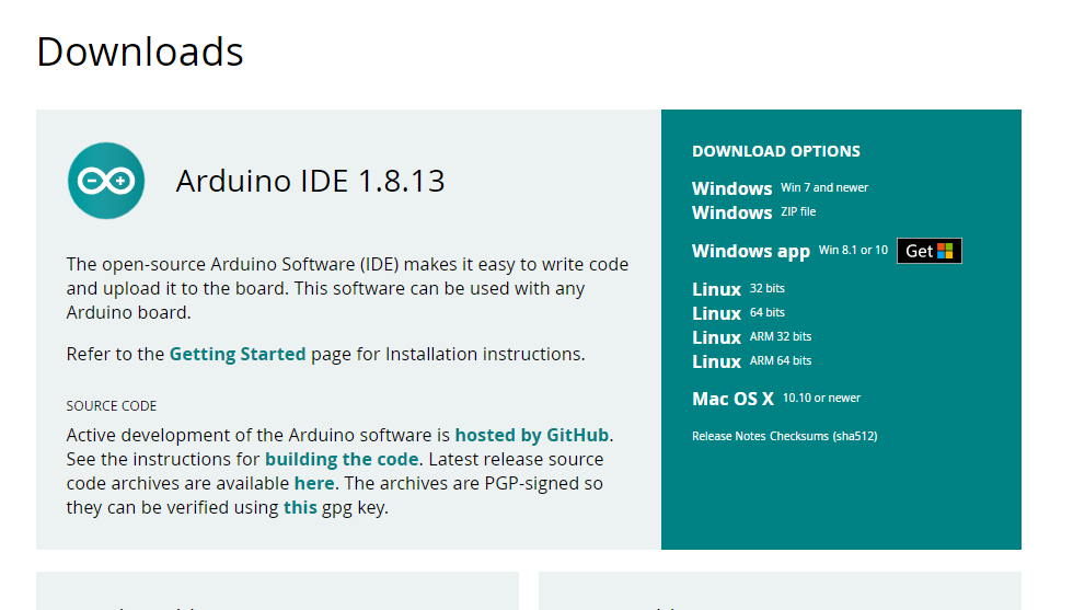 Giao diện download arduino IDE