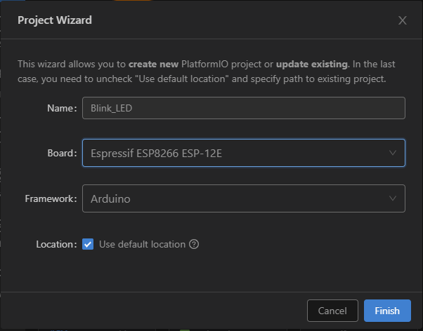 Các file được tạo ra cho project mới