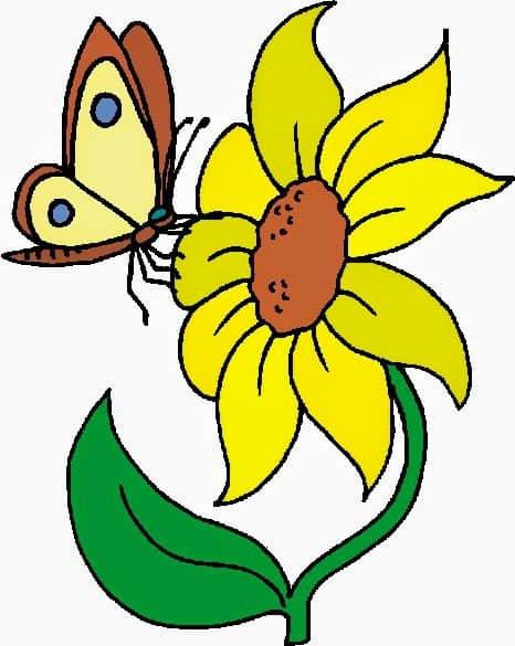 Hình vẽ hoa hướng dương bằng chì đơn giản