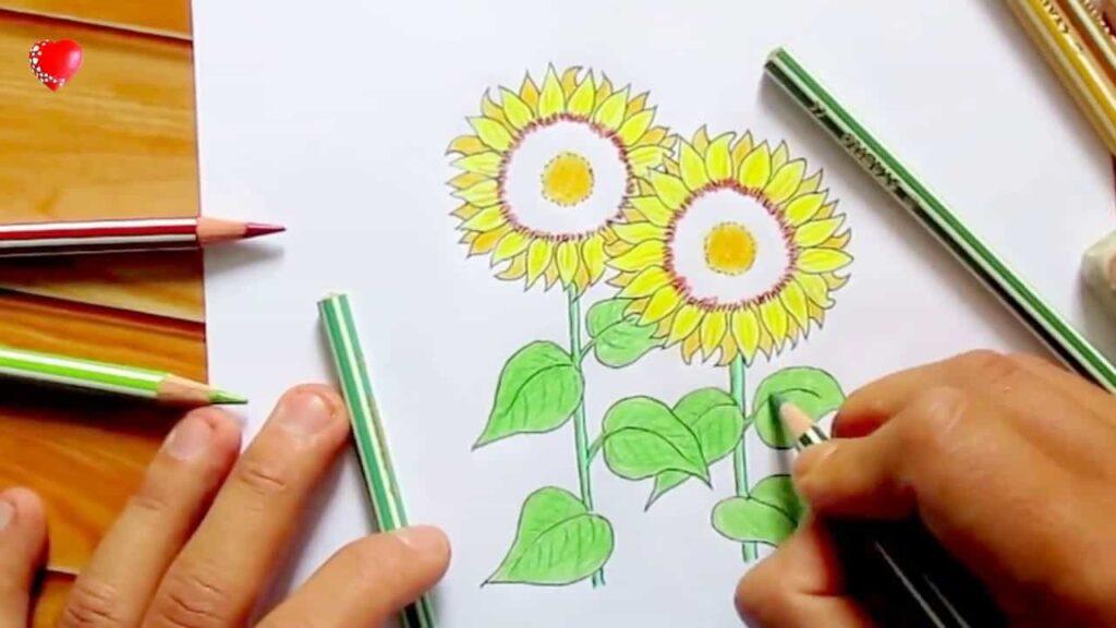 Hình hoa hướng dương đơn giản