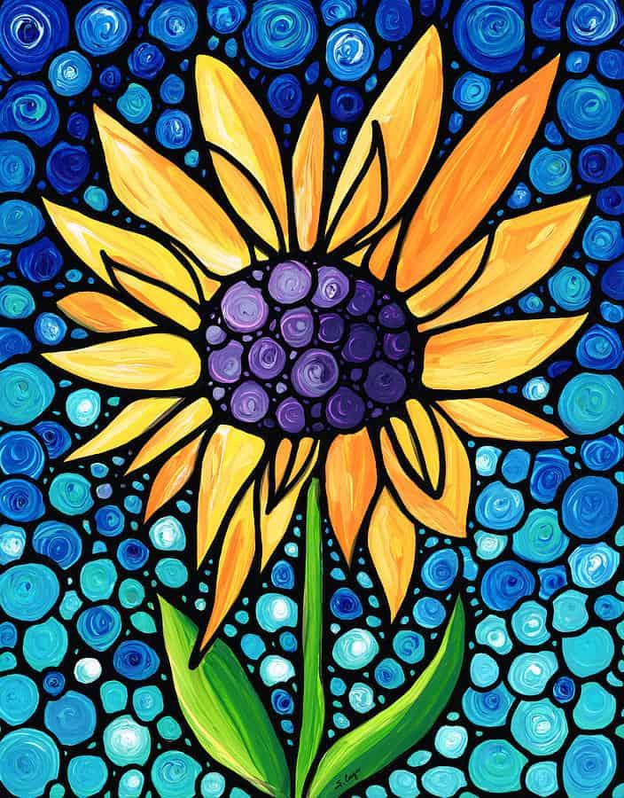 Mẫu hình hoa hướng dương