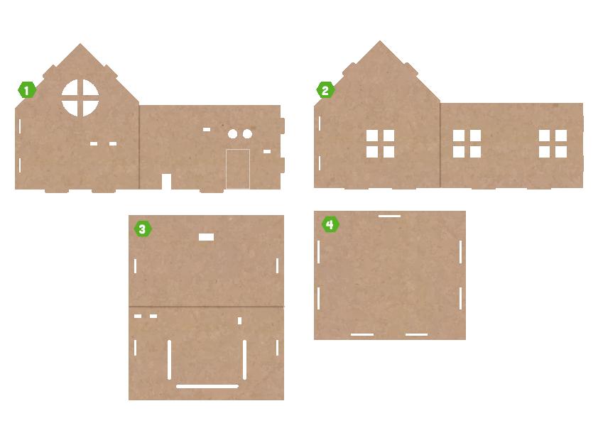 Lắp ráp mô hình ngôi nhà