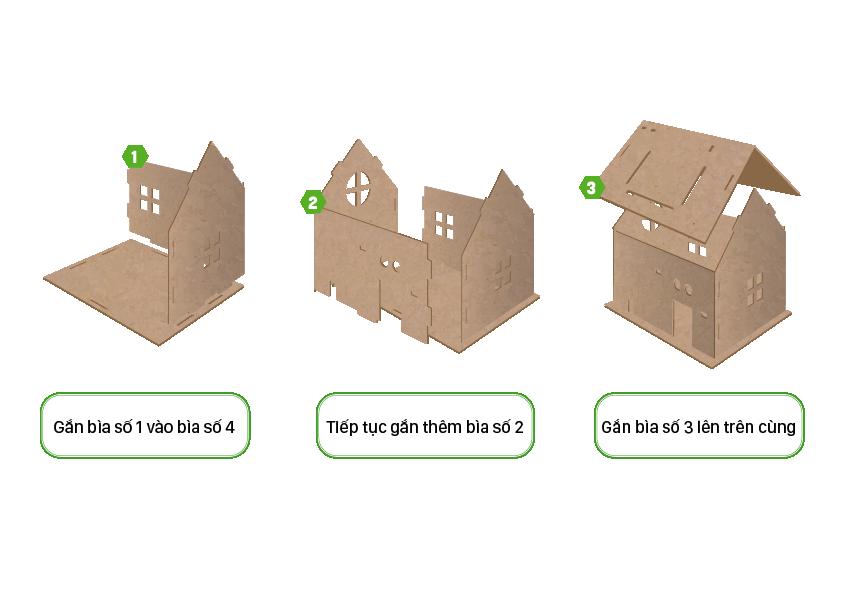 Cách lắp mô hình ngôi nhà