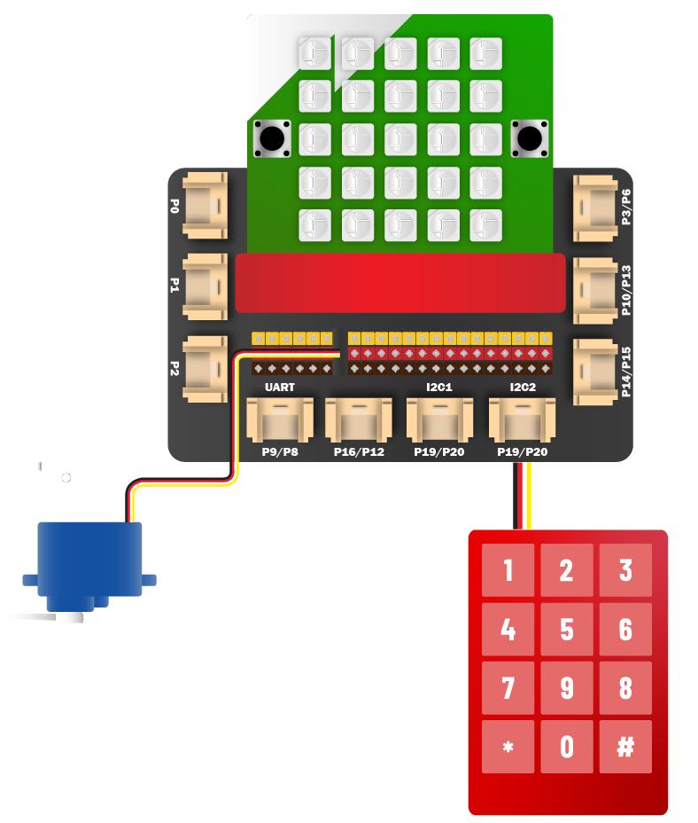 Kết nối Servo và Keypad
