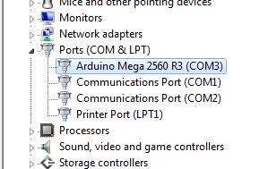 Arduino Mega 2560 R3 (COM3)