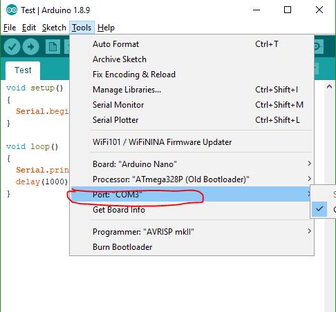 Kiểm tra giao tiếp giữa UART với Arduino