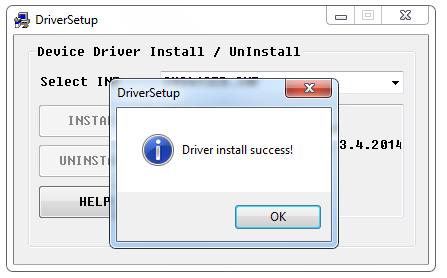 Cài đặt thành công driver USB 2.0 Serial