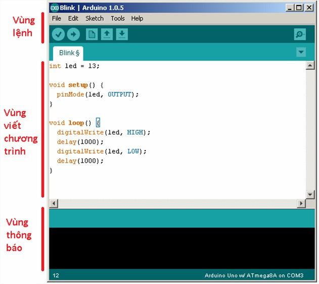 Làm quen với giao diện Arduino IDE