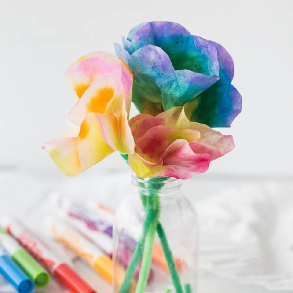 Hướng dẫn thực hiện hoạt động STEM chế tạo hoa ngũ sắc đơn giản