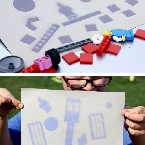 Hoạt động STEM ngoài trời: vẽ LEGO bằng năng lượng mặt trời