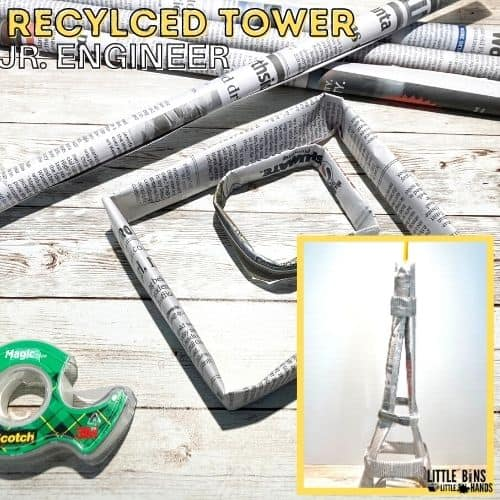 Giảng dạy STEM - Cách làm tháp Eiffel bằng giấy đơn giản