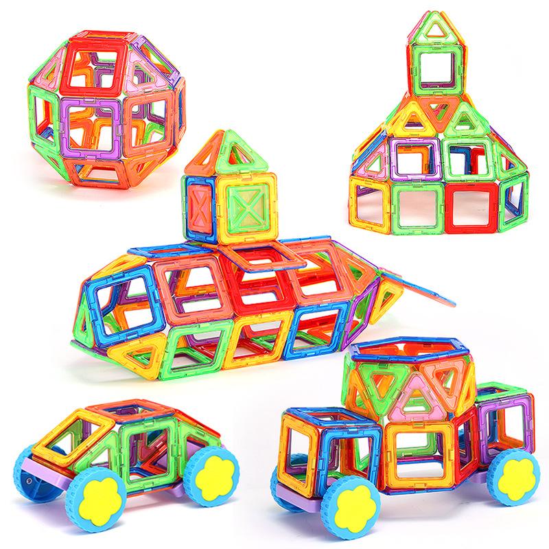 Cách dùng đồ chơi ghép hình khối có nam châm