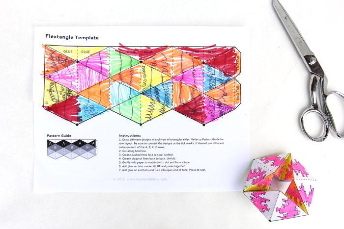 Lời khuyên thực hiện STEM gấp giấy Flexagons