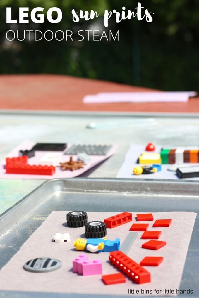 Phơi LEGO ngoài trời - hoạt động STEM Vật Lý