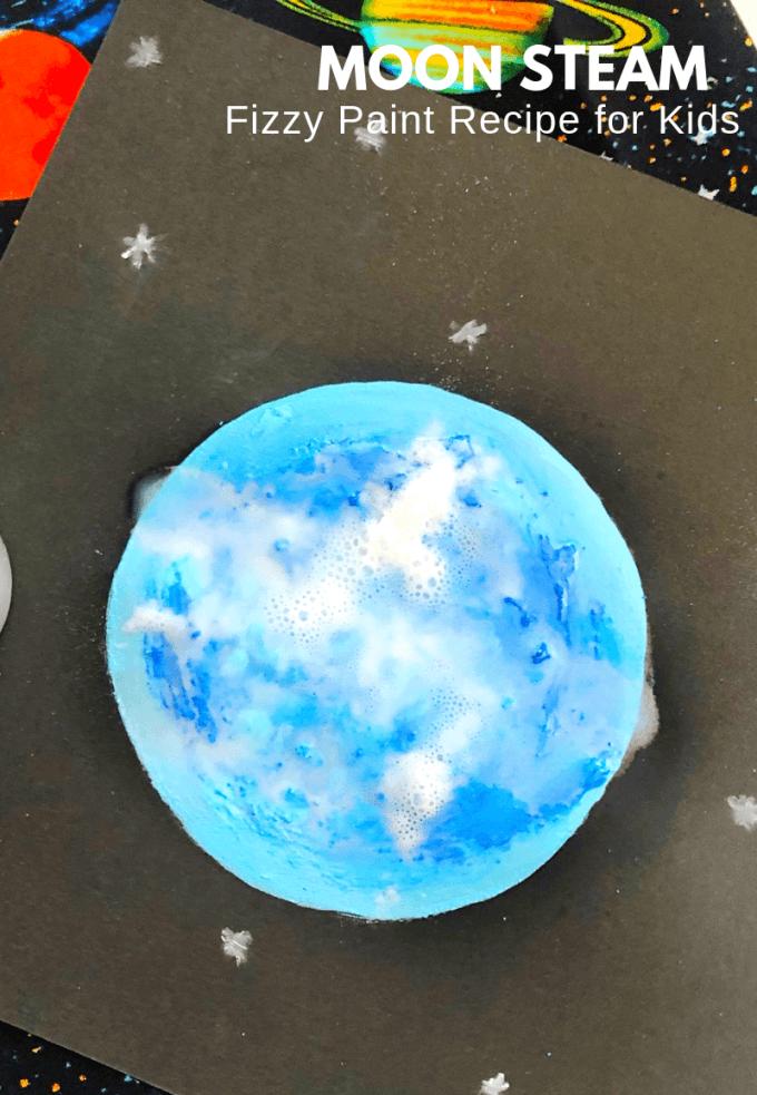 Thí nghiệm giáo dục STEAM: vẽ mặt trăng hơi nước bằng muối nở và giấm
