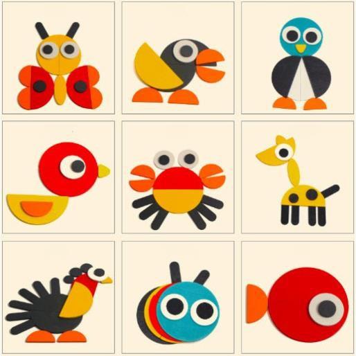 trò chơi Tangram xếp hình khối gỗ Montessori