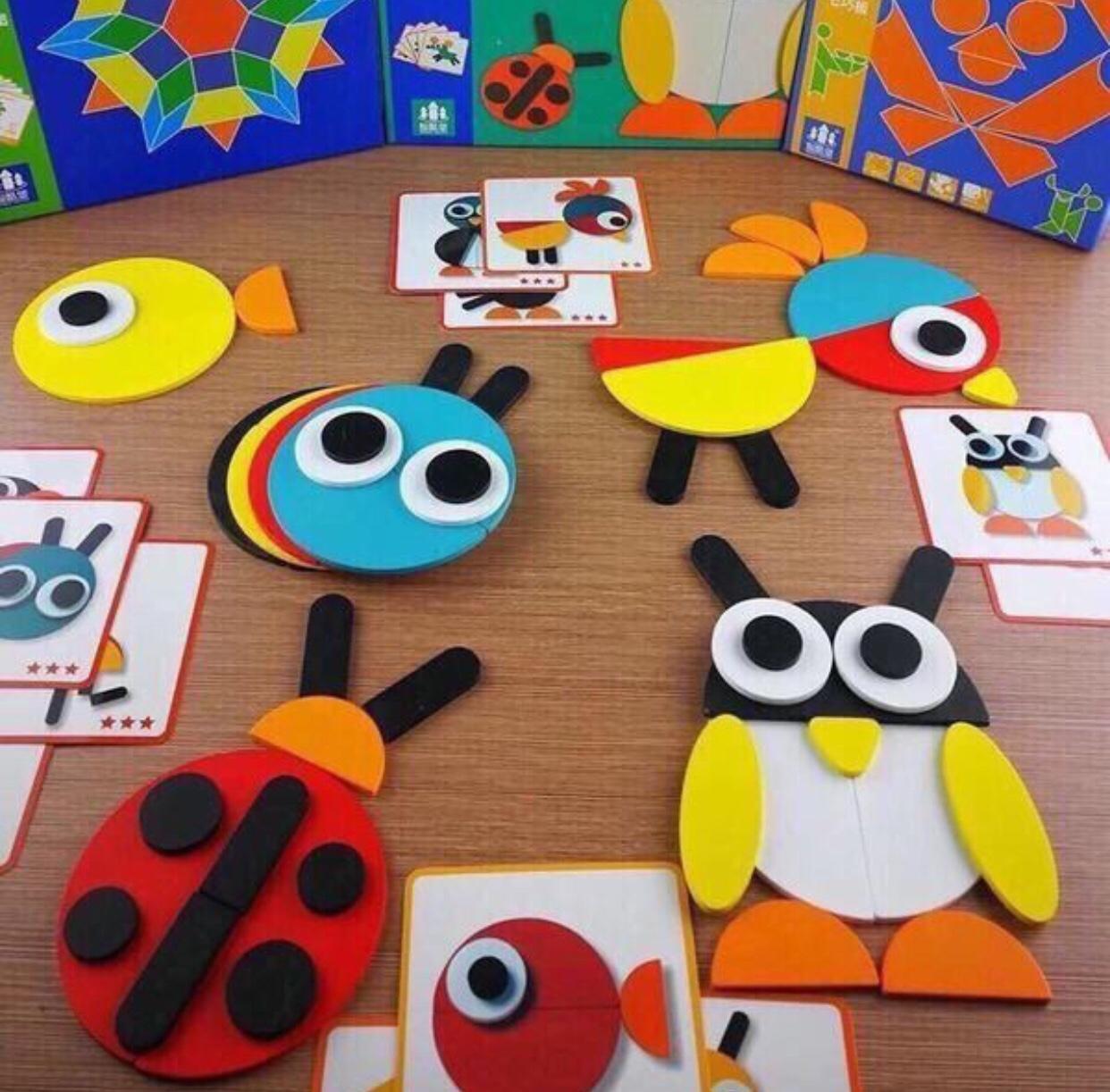 Trò chơi Tangram xếp hình giúp phát triển sự sáng tạo cho bé