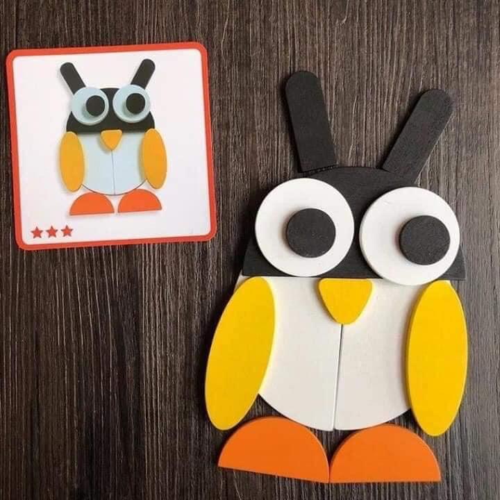 Đồ chơi thông minh cho bé 1-2 tuổi: đồ chơi xếp hình Tangram