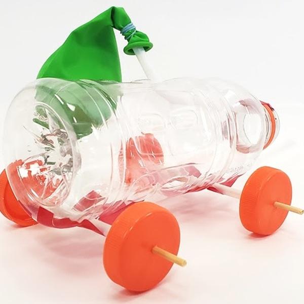 Thí nghiệm STEM làm xe khinh khí cầu