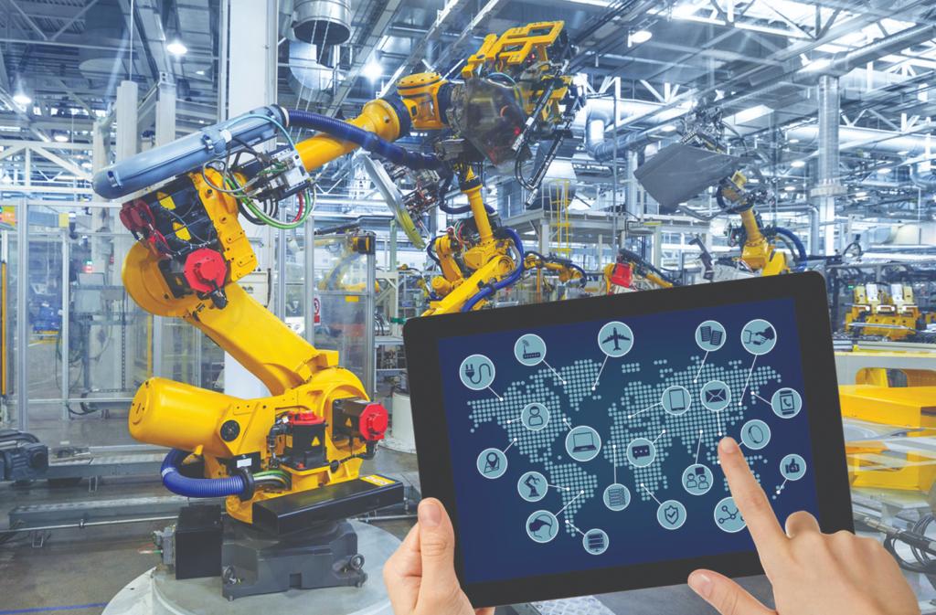 Cánh tay robot gắp sản phẩm hiện đại