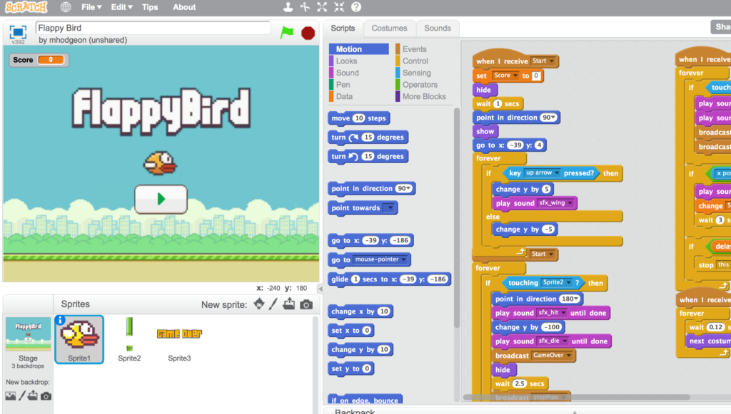 Giáo án làm game Flappy Bird bằng Scratch