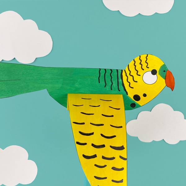 Thành phẩm chú chim bằng giấy