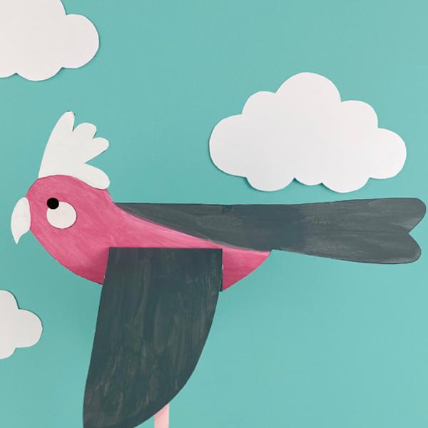 Mẫu chim bằng giấy
