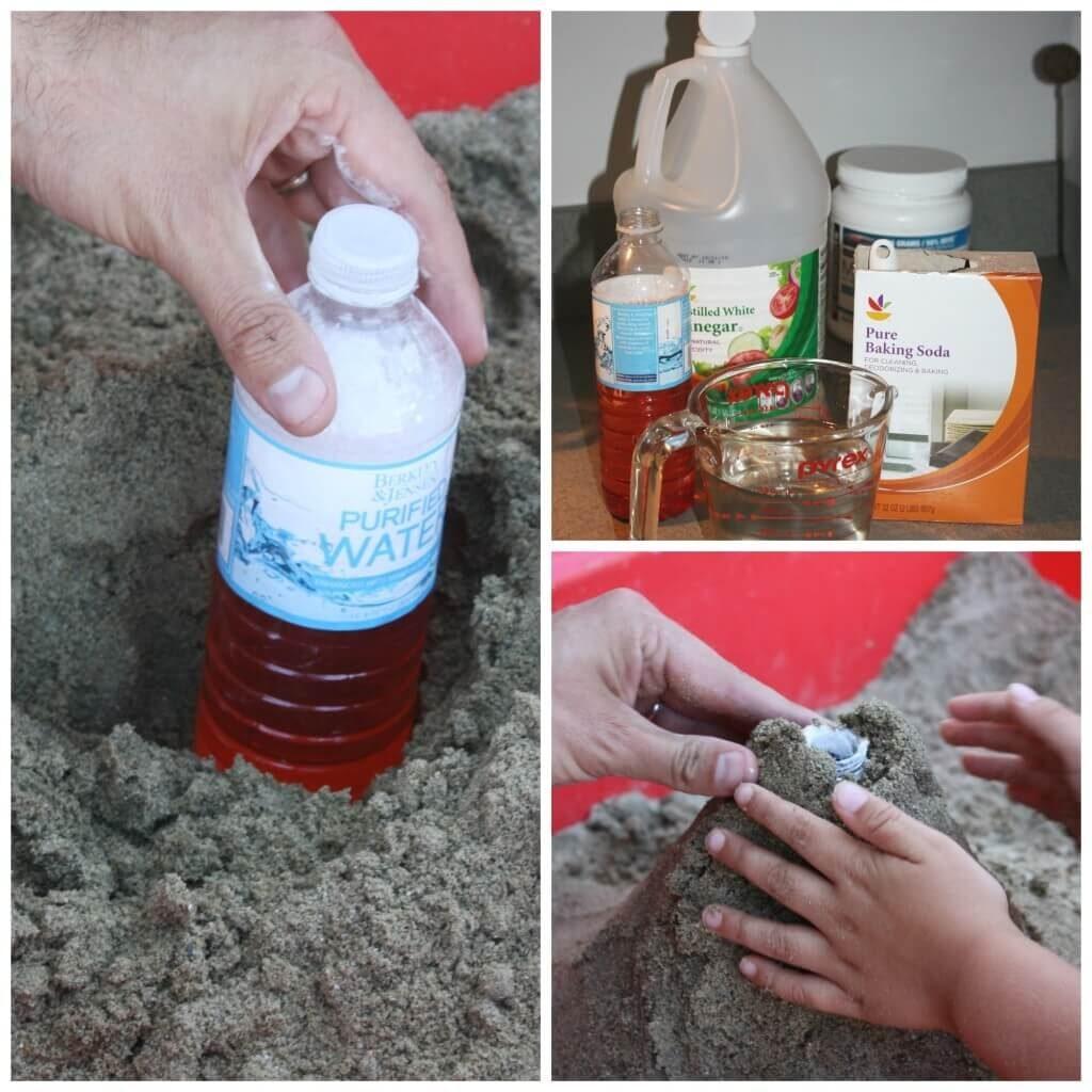 Học STEM: phun trào núi lửa bằng cát và một số nguyên liệu đơn giản