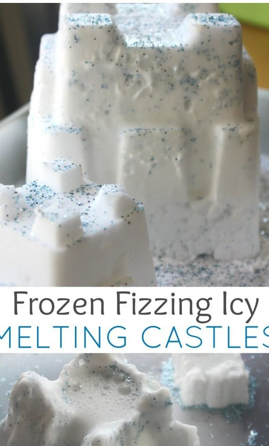 Tạo lâu đài tâm chảy bằng cách đông lạnh baking soda