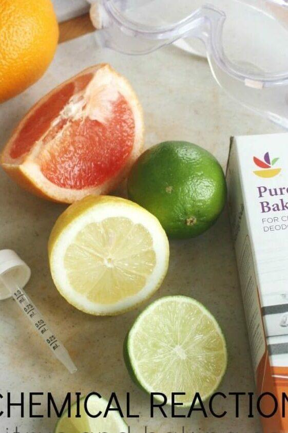 Thử nghiệm axit citric và muối nở