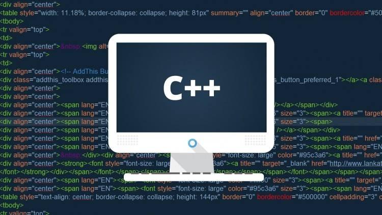 Sản phẩm của ngôn ngữ lập trình C++
