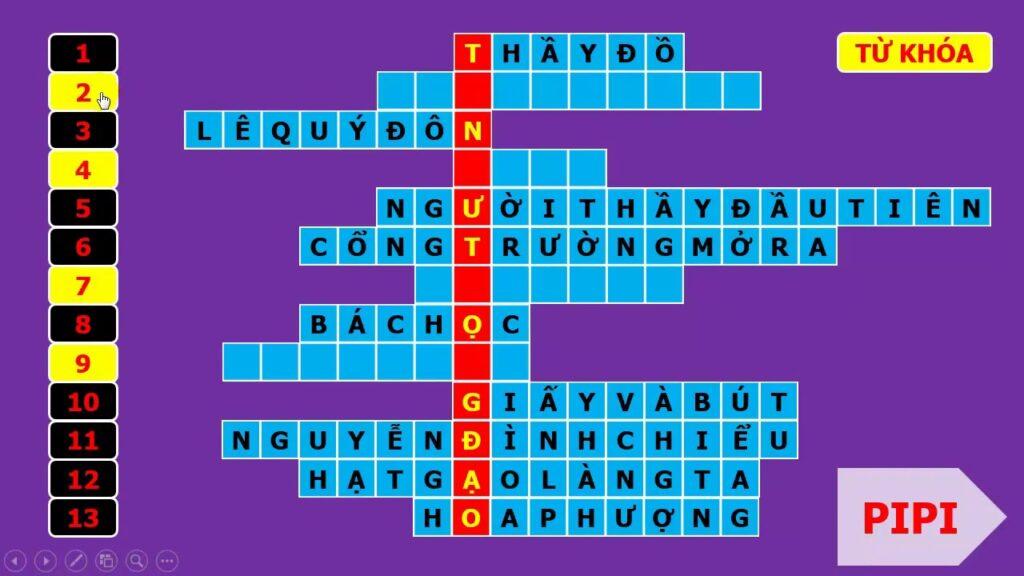 Trò chơi giải ô chữ giúp bé phát triển trí tuệ