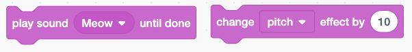 Các khối âm thanh trong Scratch
