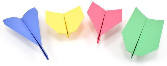 Cách gấp máy bay giấy đơn giản