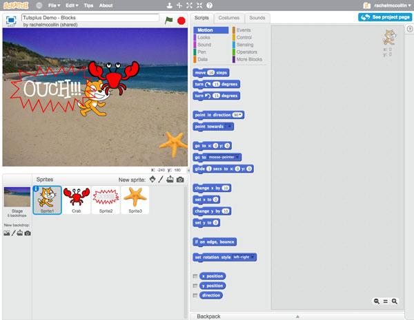 Học lập trình Scratch - Khối lệnh chuyển động