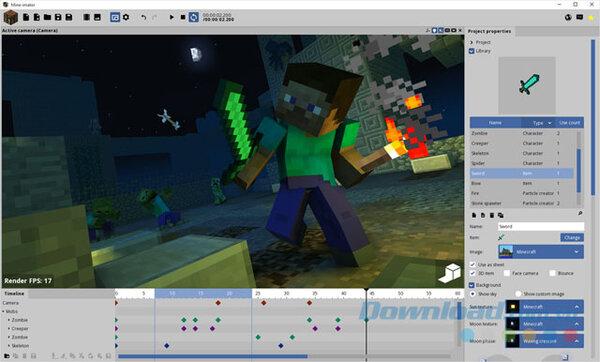 Giao diện của lập trình Minecraft .