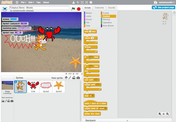 Học lập trình Scratch - Khối điều khiển