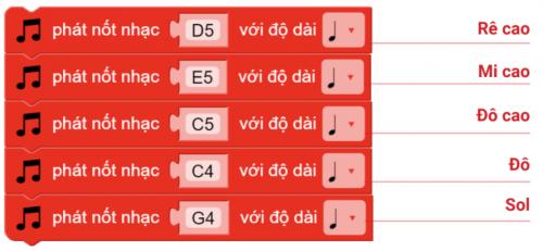 Hướng dẫn lập trình phát ra nốt nhạc trên xBot
