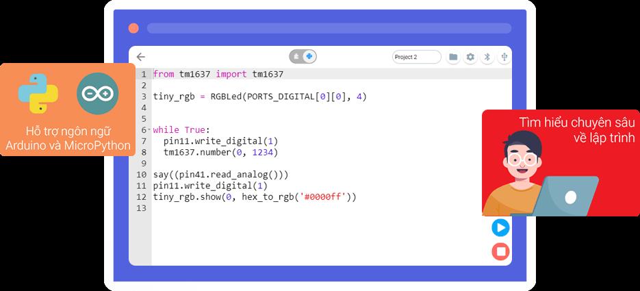 Phần mềm lập trình cho trẻ em OhStem App nâng cao