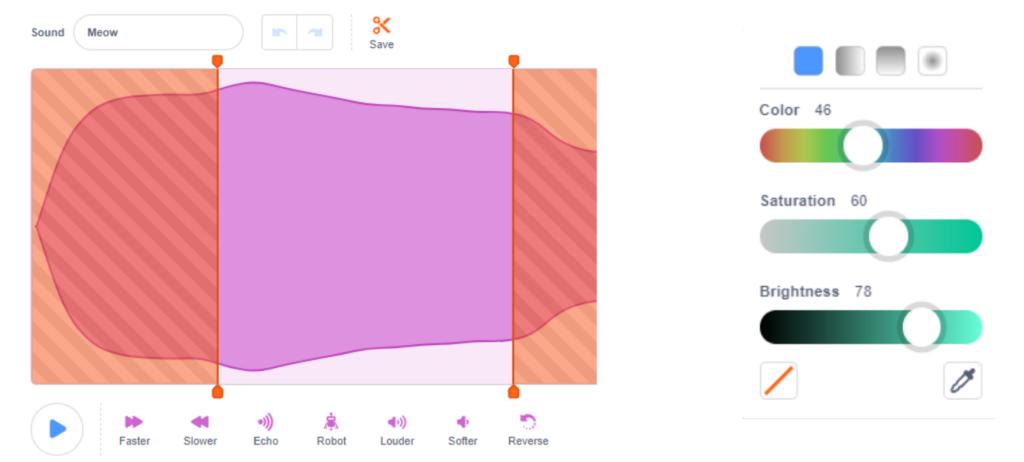 Trình chỉnh sửa âm thanh của Scratch 3.0