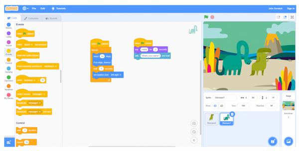 Tự học lập trình Scratch - Tính năng chạy chương trình song song